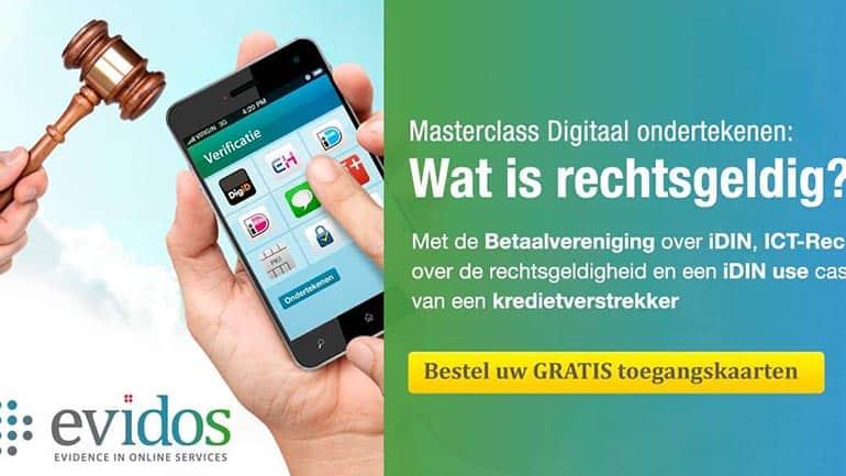 Masterclass Digitaal ondertekenen; Wat is rechtsgeldig?