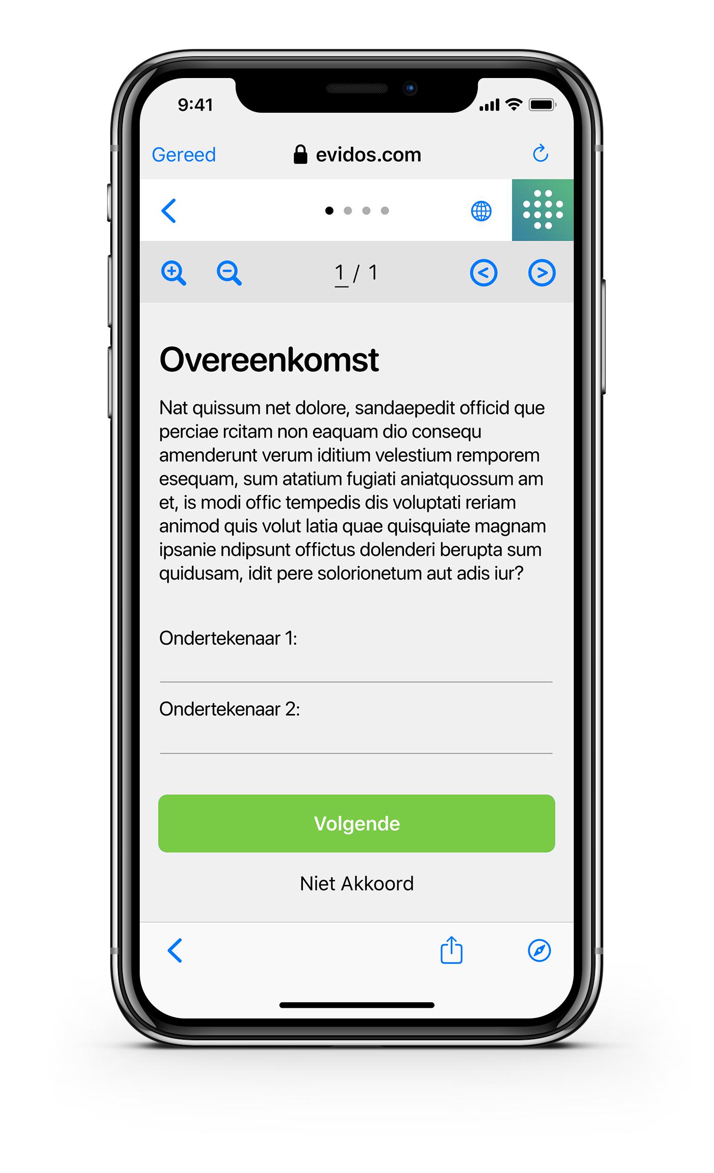Ondertekenen - NL - Overeenkomst