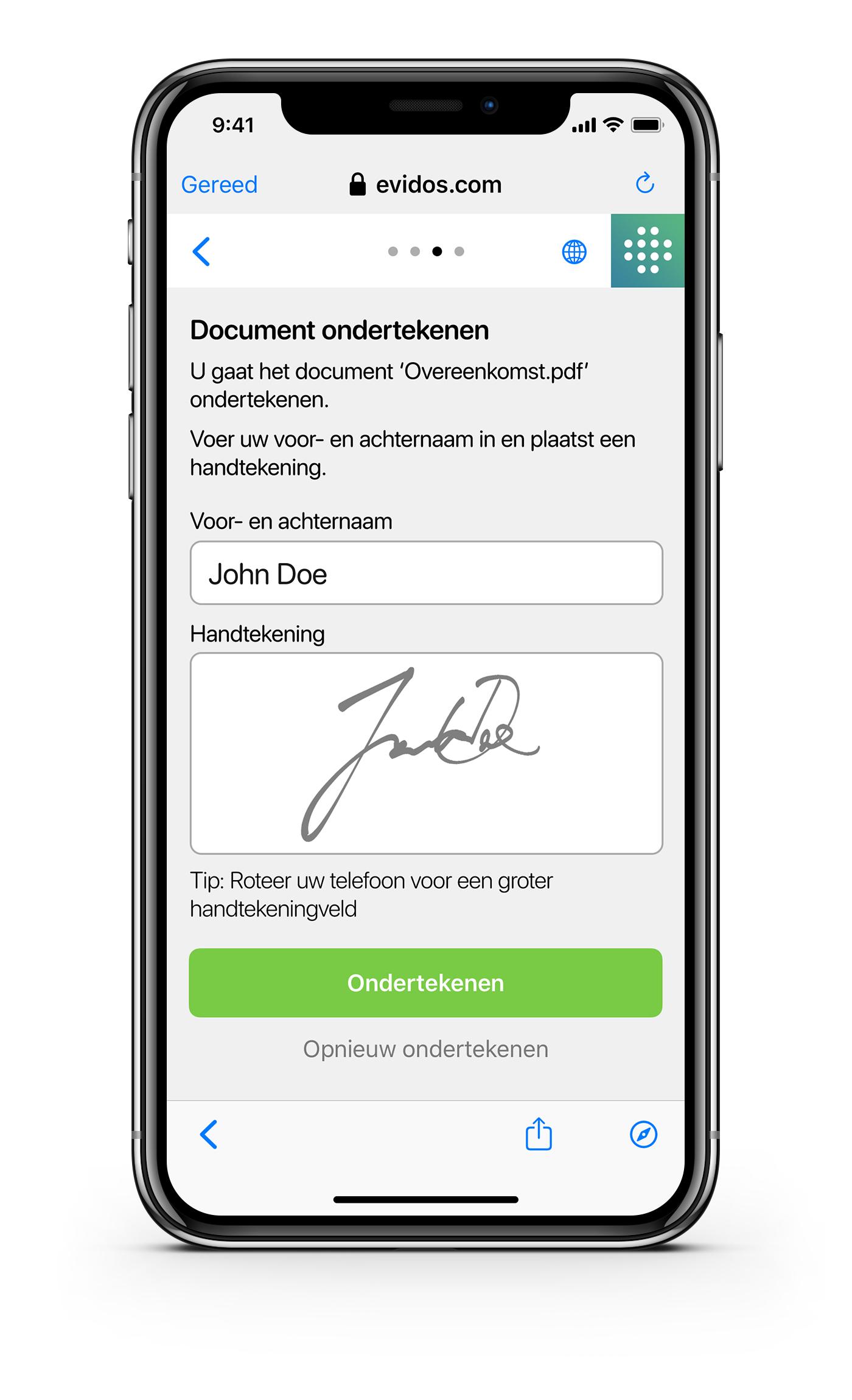 Ondertekenen - NL -Document ondertekenen