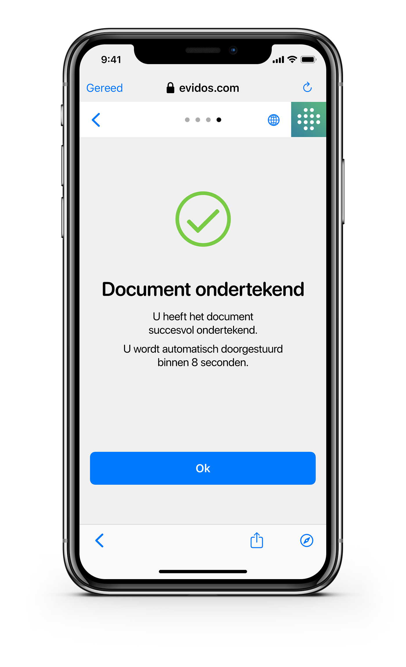 Ondertekenen - NL - Document ondertekend
